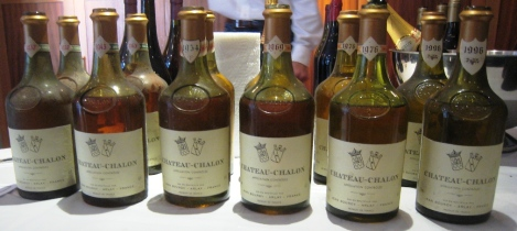 Old vintages of Château-Chalon