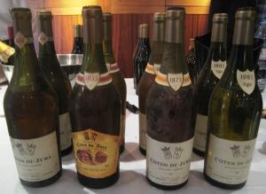 Old vintages of Jura whites