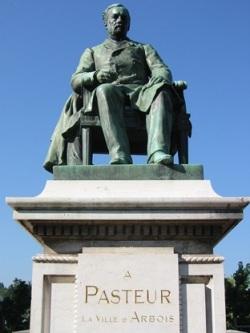 Louis Pasteur statue in Arbois