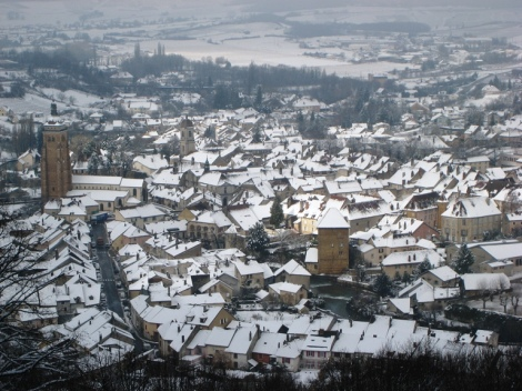 Arbois in snow