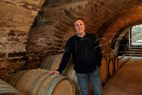 François Duvivier in the Pélican barrel cellar © Mick Rock/Cephas