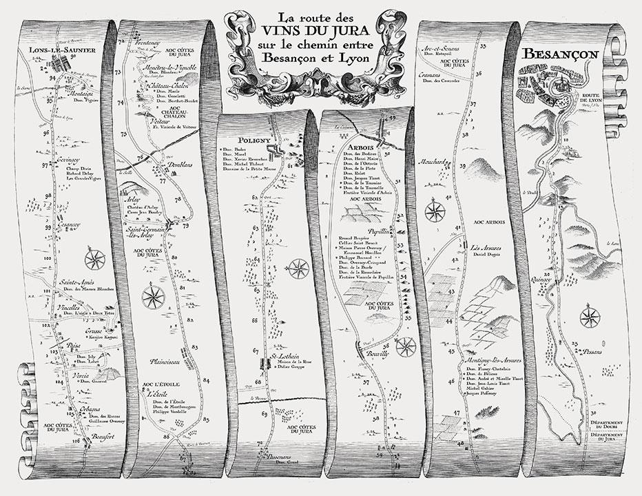 Jura wine map